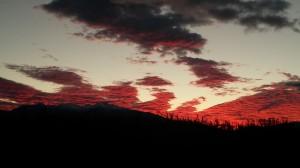 coucher soleil sur CANIGOU